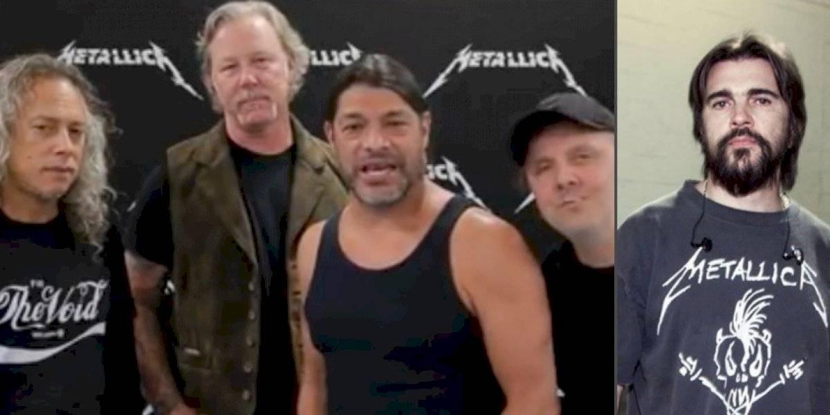 Los Metallica bancaron a Juanes por la versión de