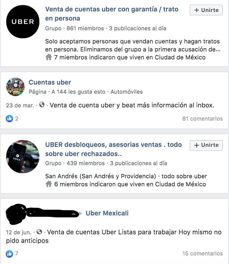 Uber pirata: Así es la compra y venta de cuentas de conductor vía Facebook