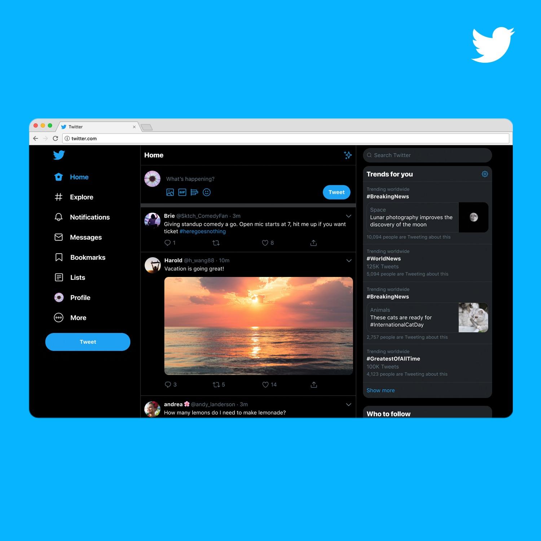 Twitter rediseña su versión web e incluye funciones y personalizaciones