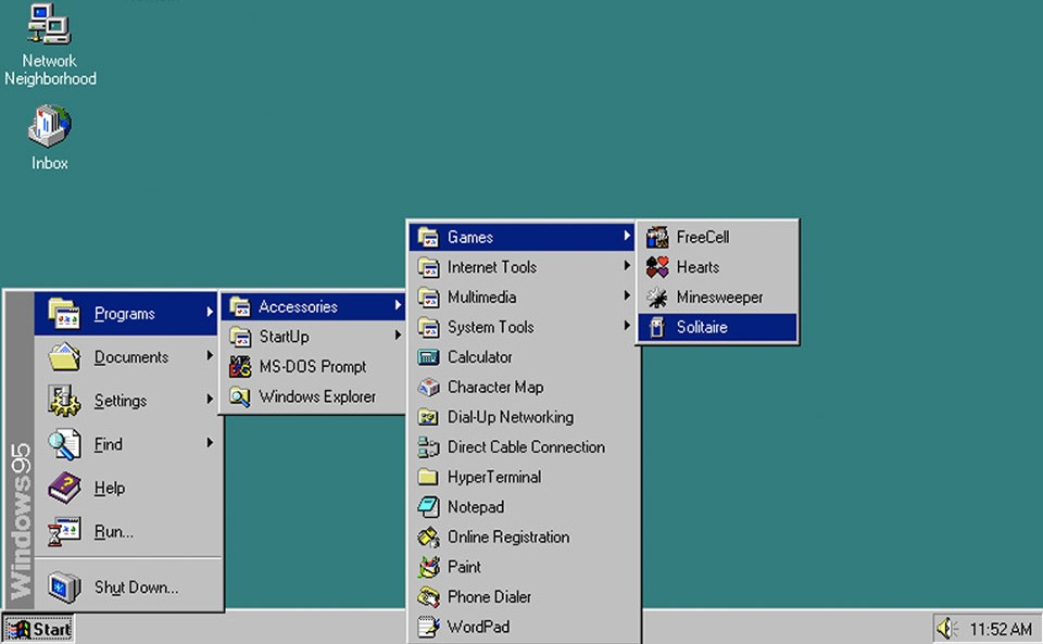 Moving the mouse made Windows 95 faster – Chaali