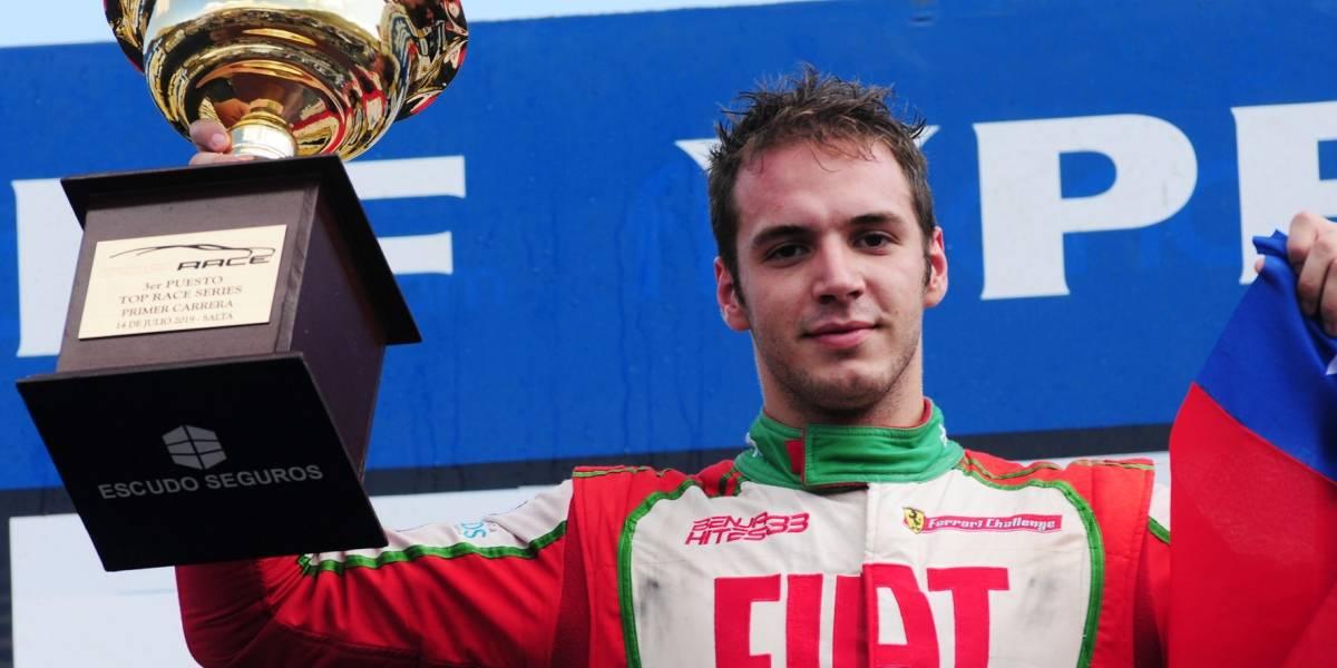 Hites logra su primer podio en Argentina