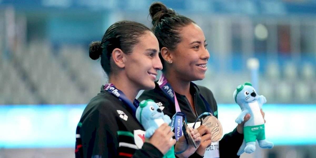 Paola Espinosa y Melany Hernández obtienen bronce y pase a JO en Gwangju