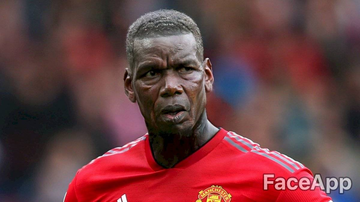 Paul Pogba FaceApp/Infobae