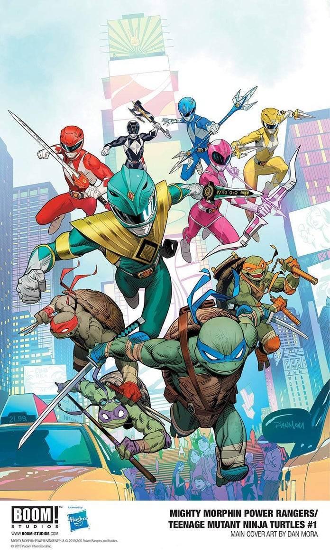 Los Power Rangers se reúnen otra vez con las Tortugas Ninja en un nuevo cómic