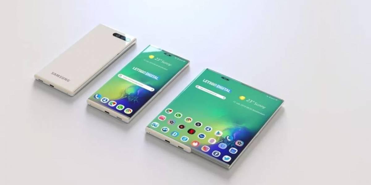 Como si no fuera suficiente: Samsung patenta smartphone de pantalla retráctil