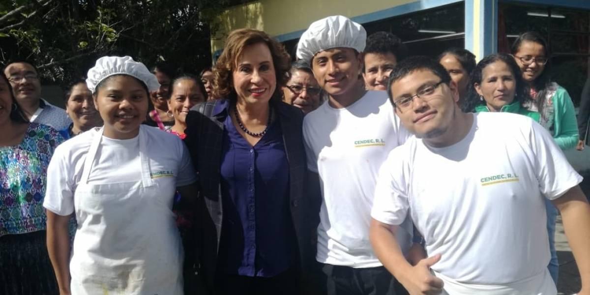 Sandra Torres se reúne con emprendedores de Chimaltenango