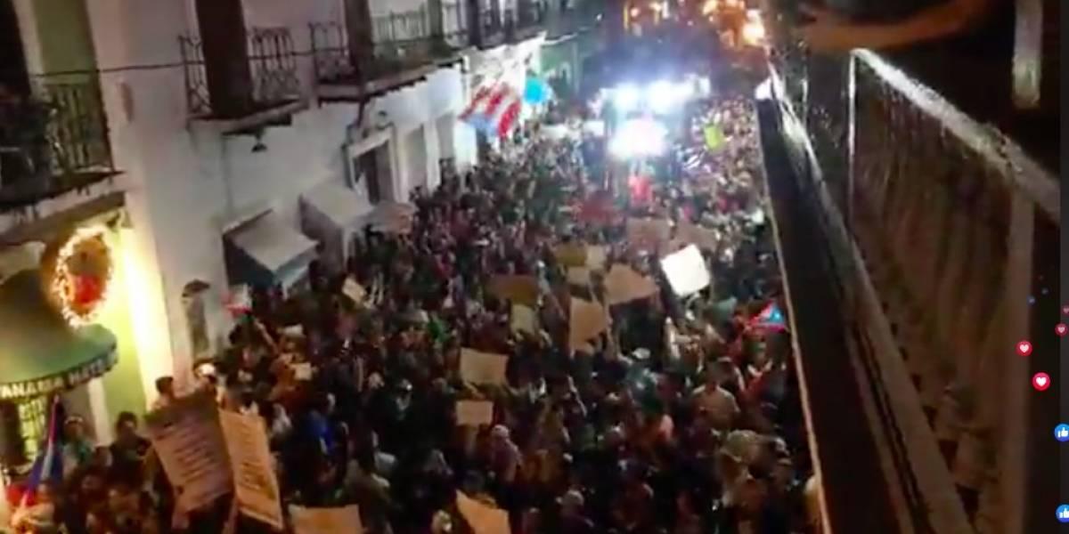 Advierten incendios en manifestaciones en Viejo San Juan pueden provocar una gran explosión
