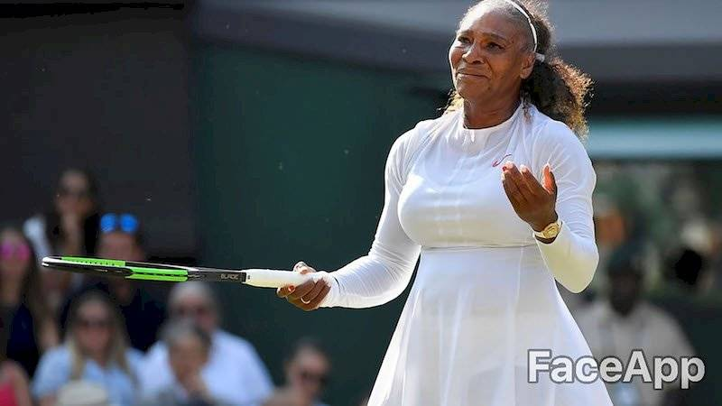Serena Williams FaceApp/Infobae