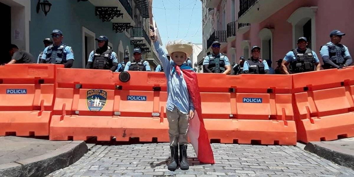 Jíbaro de nueve años lleva protesta a Fortaleza