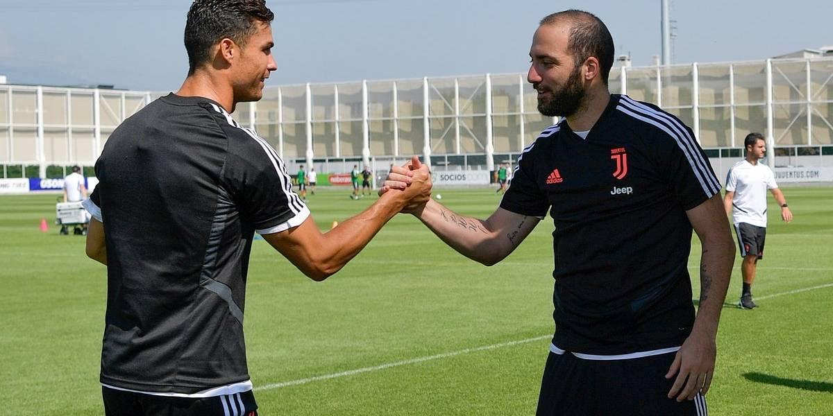 Cristiano Ronaldo 'humilla' a Gonzalo Higuaín durante pretemporada