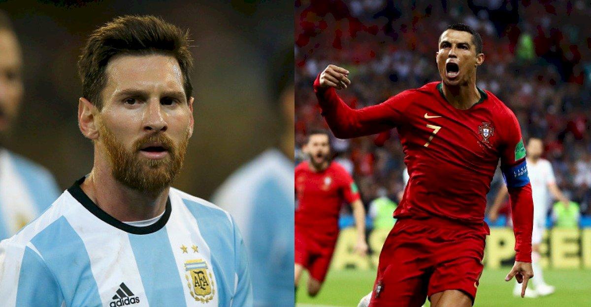 Messi y Cristiano Ronaldo Metro Ecuador