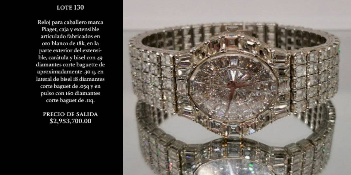Estas son las joyas que se subastarán en Los Pinos