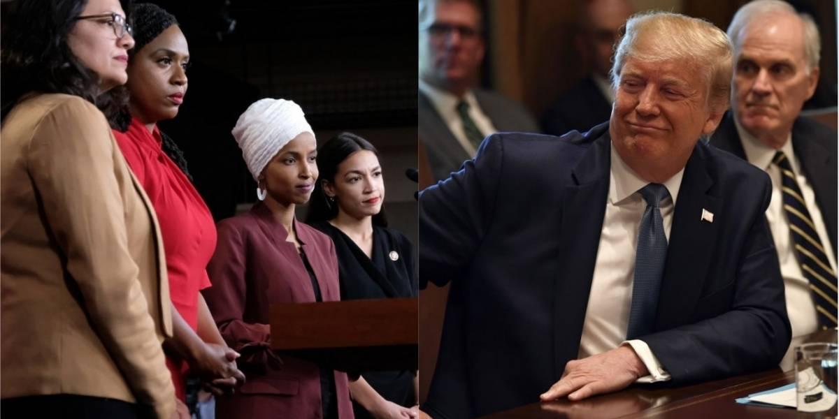 Trump niega que sus declaraciones sobre congresistas fueran racistas