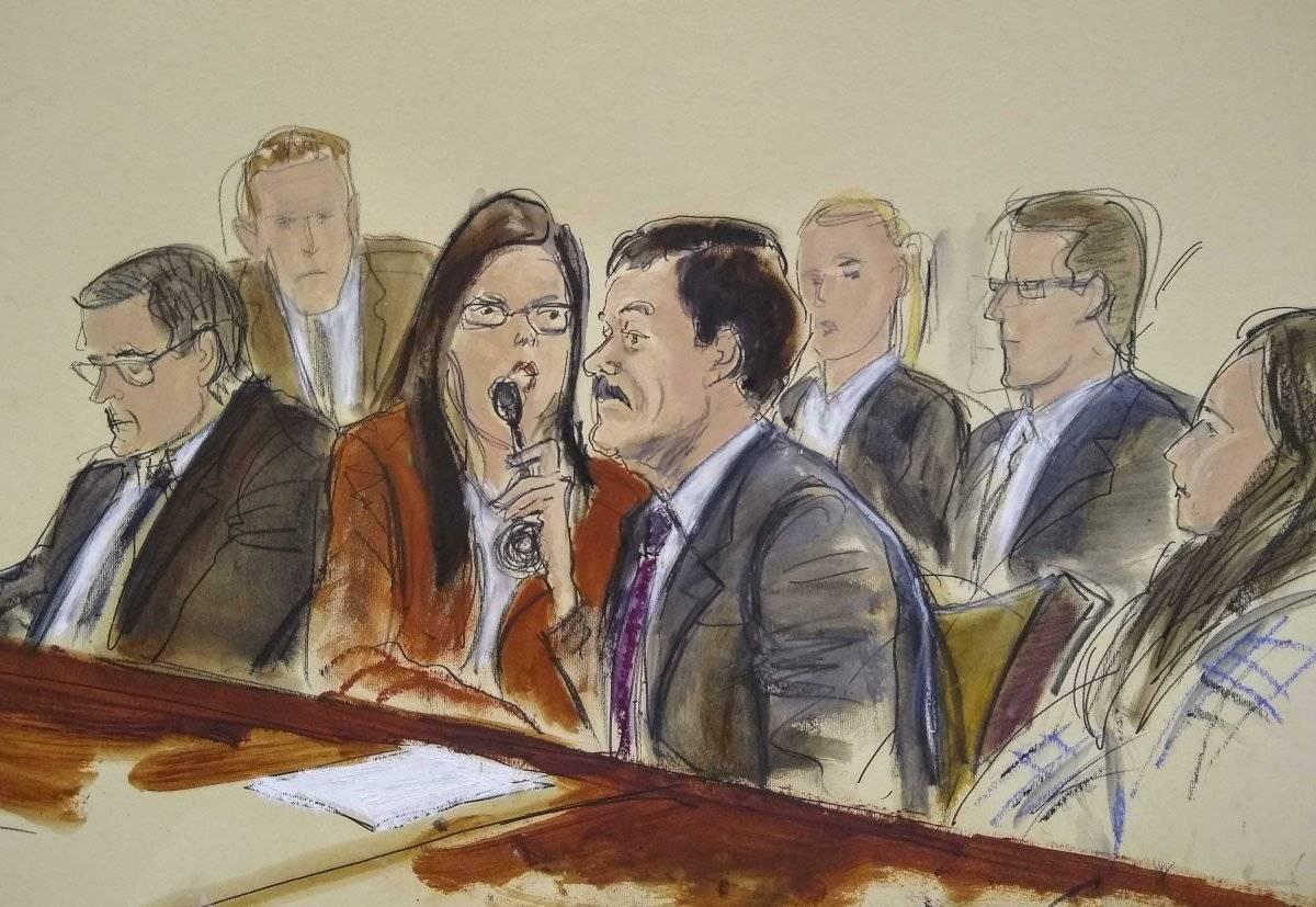 Último dibujo de la corte del Chapo Guzmán