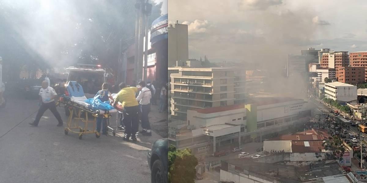 VIDEO. Cilindro de gas causa fuerte explosión en la zona 4