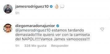 2. Presión del hijo de Maradona a James