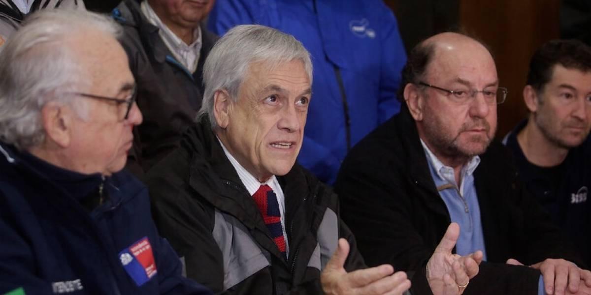 Presidente anunció que suspendió viaje a Estados Unidos por emergencia en Osorno