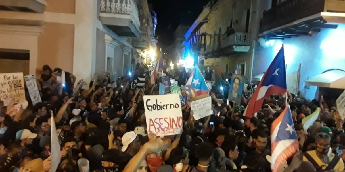 Reportan varios incidentes durante manifestación en La Fortaleza