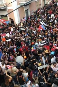 Manifestación en Viejo San Juan