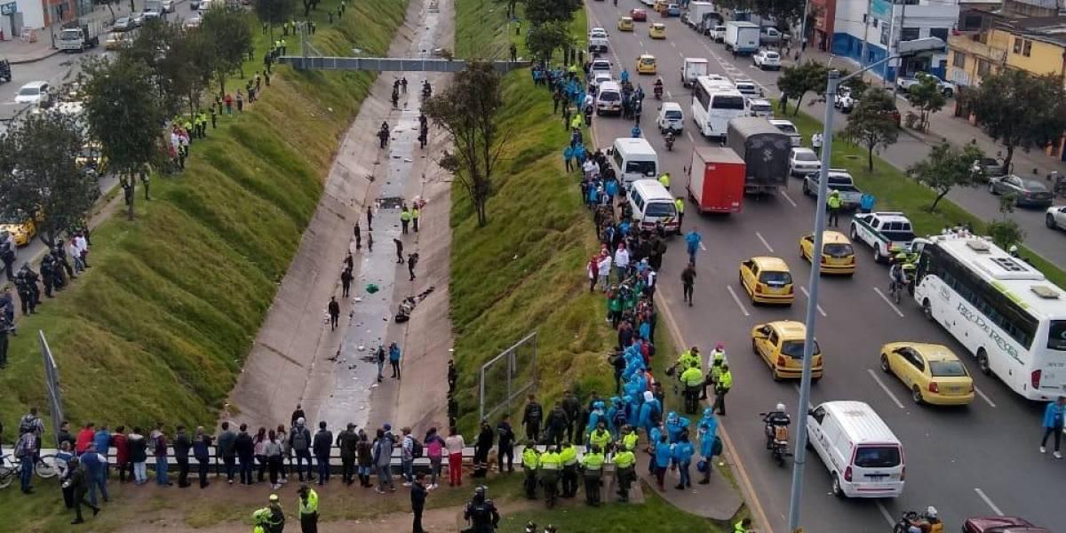 ¡ATENCIÓN! Desalojan habitantes de calle del caño de la Sexta, en Bogotá