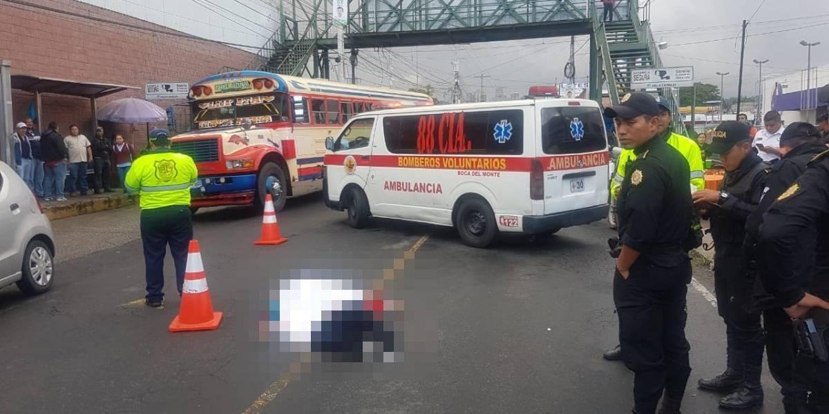 Motoristas mueren por accidentes en Villa Canales y Mixco