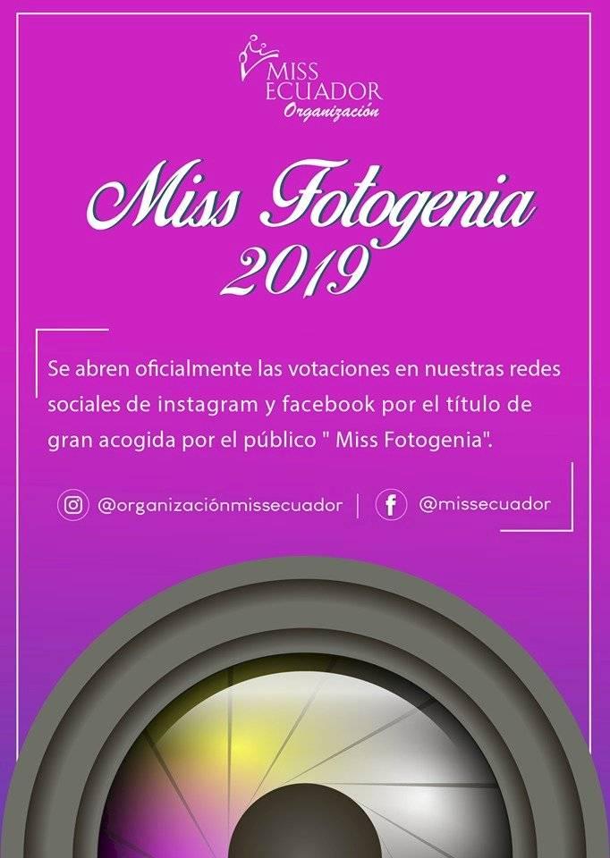 Flyer Votación Miss Fotogenia 2019