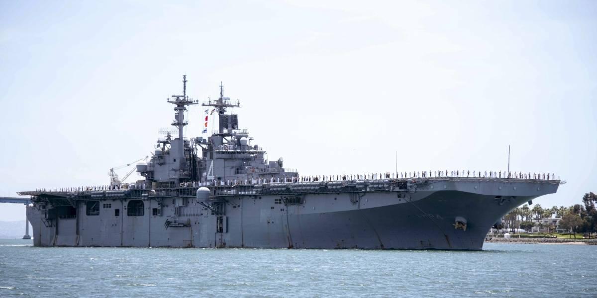 Trump respondió con fuego a Irán: asegura que uno de sus barcos de guerra derribó un dron iraní en el estrecho de Ormuz