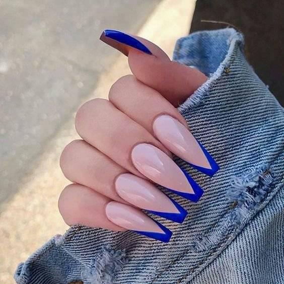 Uñas francesas de colores