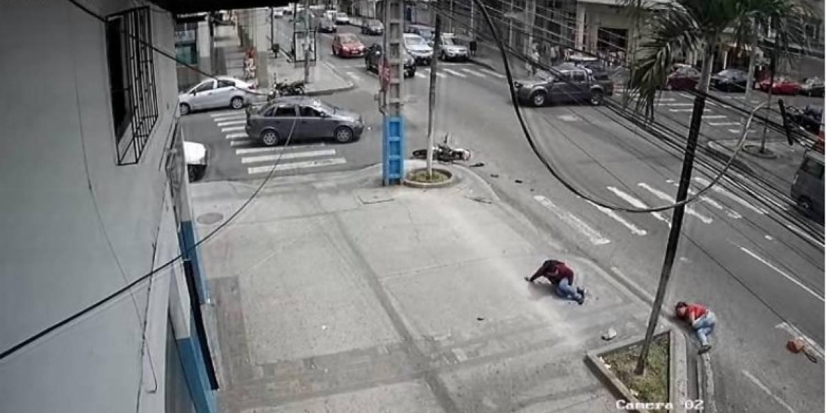 Una mujer murió tras un accidente en el sur de Guayaquil