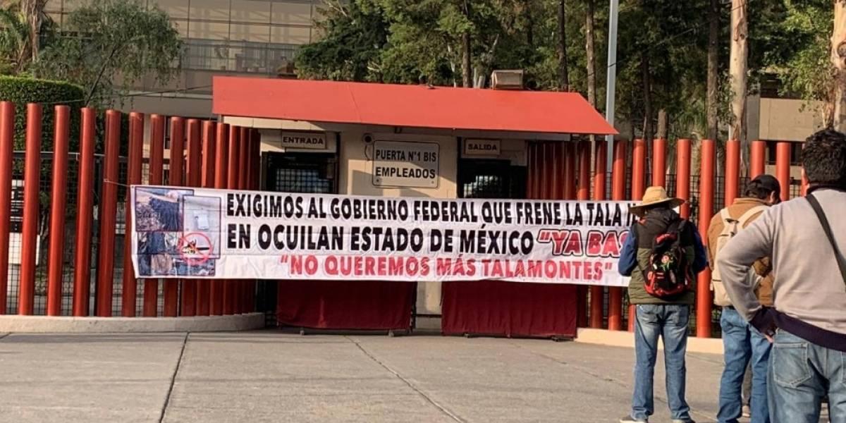 Campesinos liberan accesos a la Cámara de Diputados