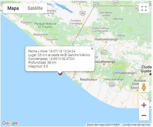 sismo del 18 de julio
