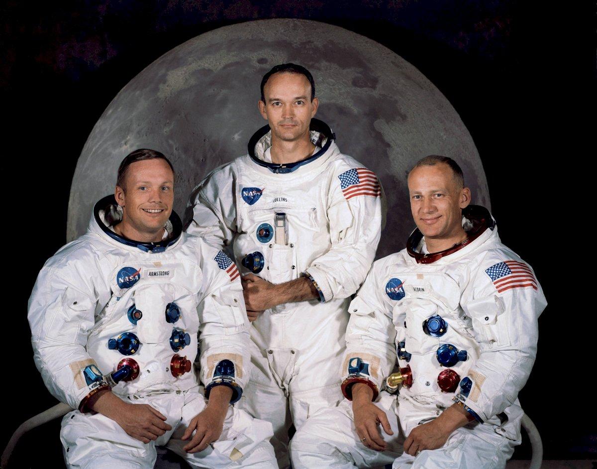 """Astronautas: Neil Armstrong-Edwin """"Buzz"""" Aldrin- Michael Collins"""