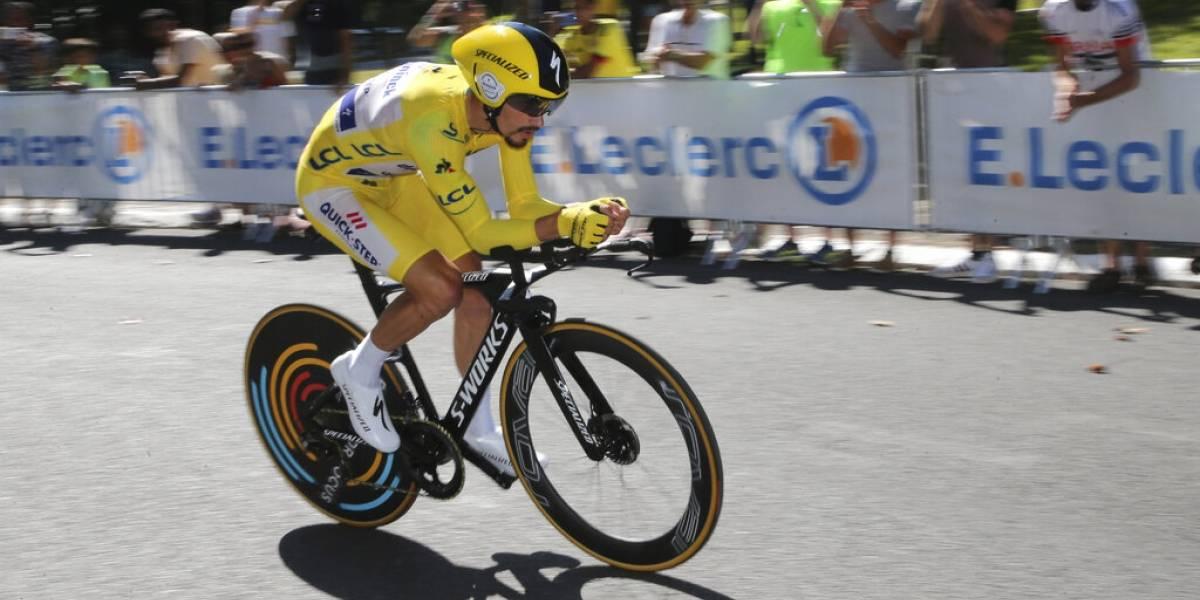 Julien Alaphilippe se luce en la contrarreloj y amplia su ventaja como líder del Tour de Francia