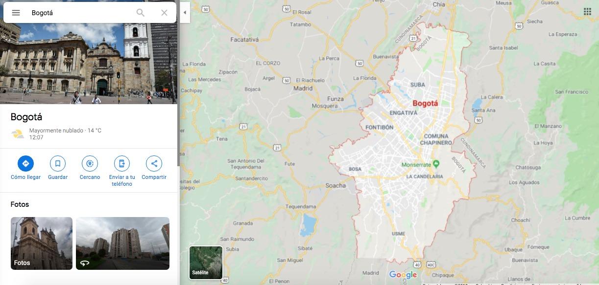 Bogotá Maps