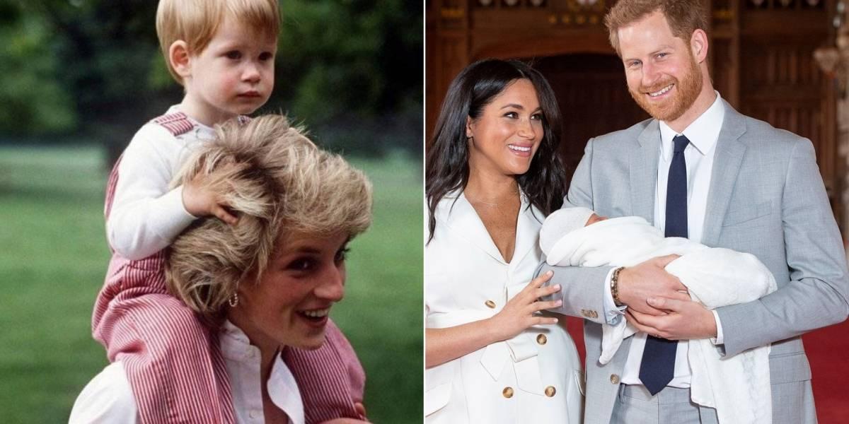 Revelaram qual seria reação de Diana ao ver Harry e Meghan Markle casados