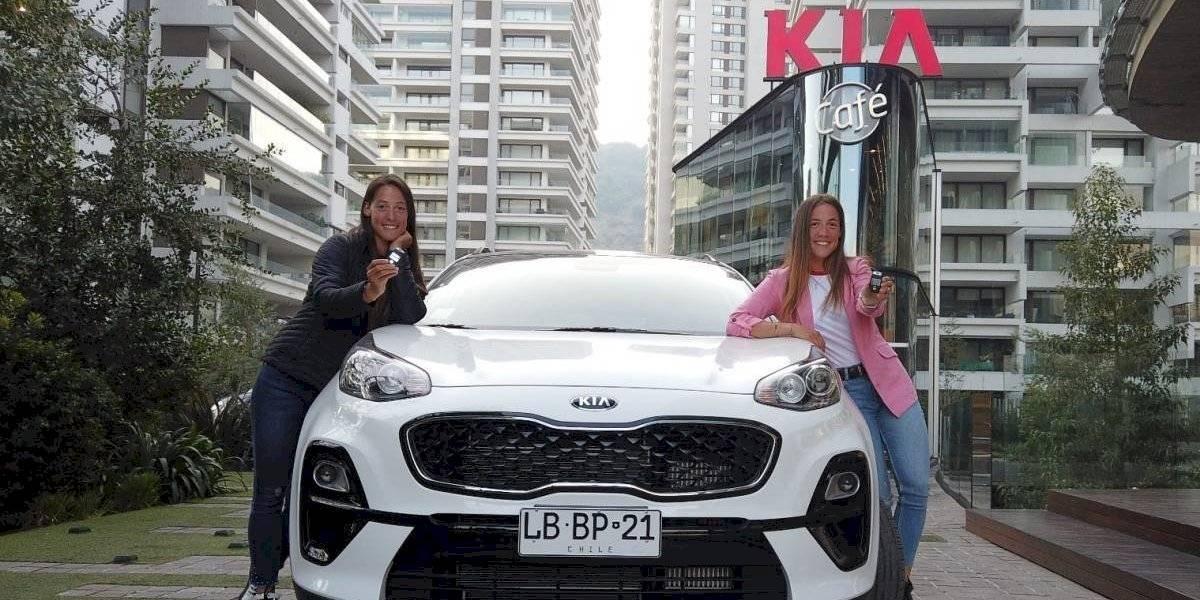 Antes de Lima 2019, las hermanas Abraham se suben a una Kia Sportage