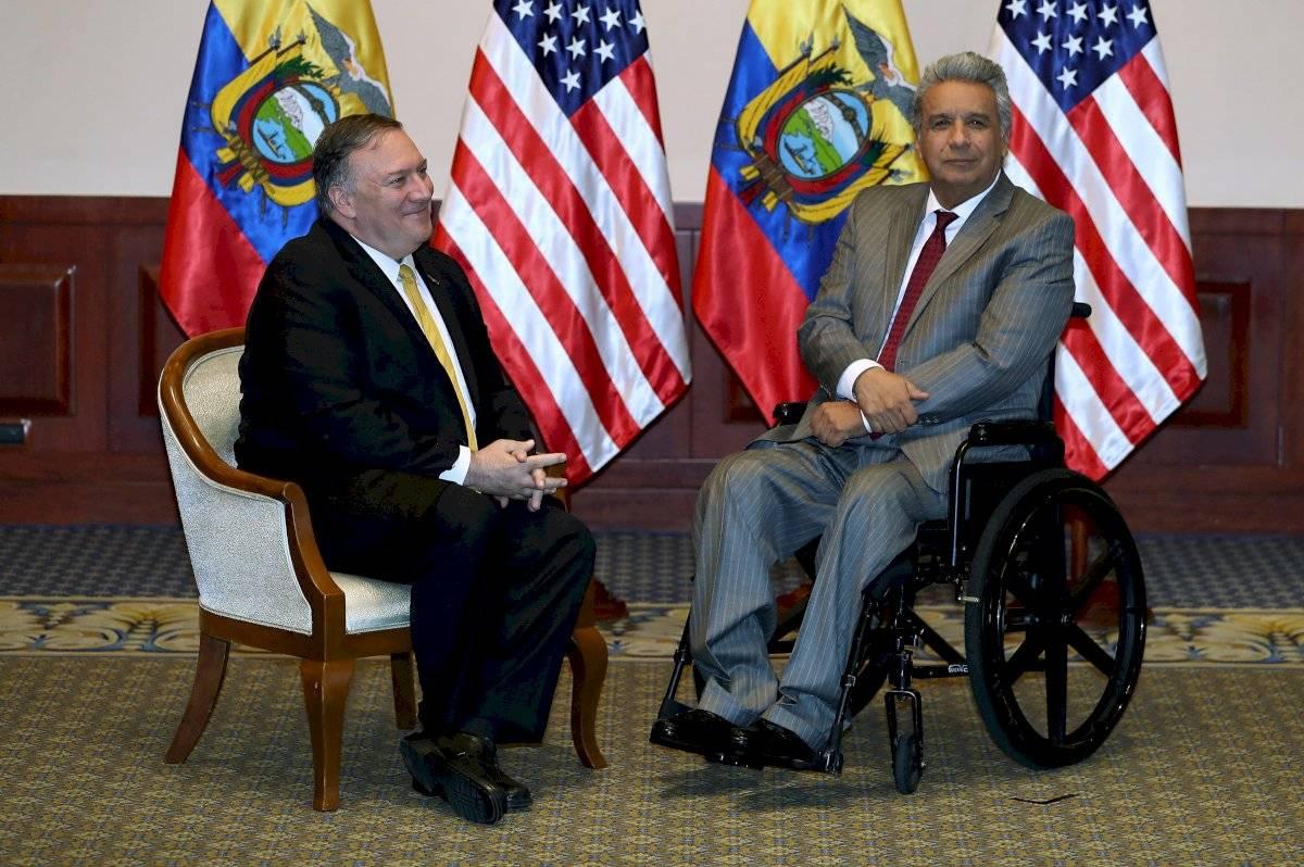 Lenín Moreno recibió al secretario de Estado de Estados Unidos, Mike Pompeo
