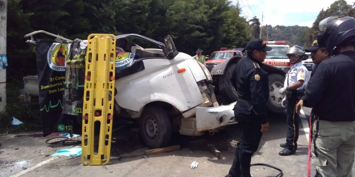 VIDEO. Tres personas mueren tras fuerte accidente en ruta Interamericana