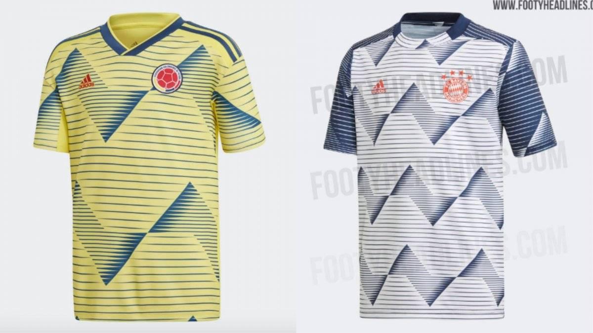 Camiseta Colombia y camiseta Bayern München