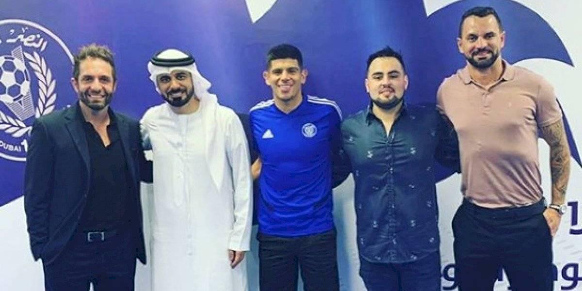Esteban Pavez fue presentado en el Al Nasr y cumplirá su segunda aventura en el extranjero
