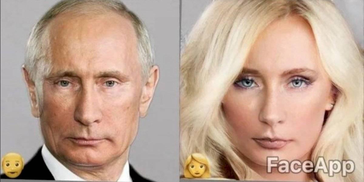 Encuentran que Vladimir Putin en versión femenina de FaceApp es igualito a Rocío Marengo