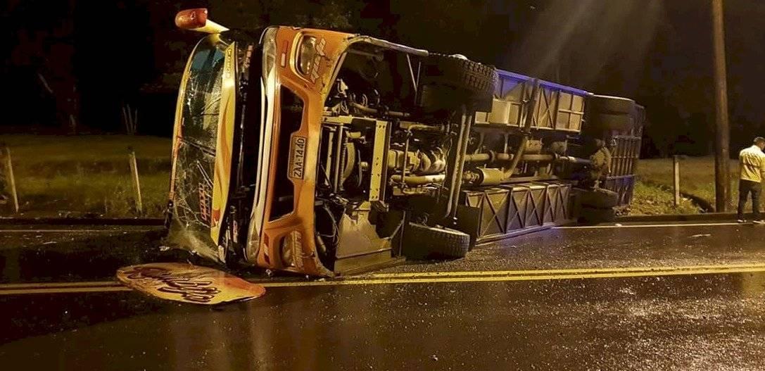 Accidente de tránsito en la vía Macas-Sucúa