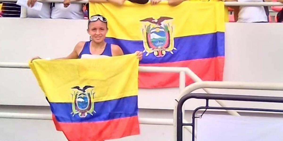 Glenda Morejón logró medalla de oro en los 10.000 metros marcha en el Panamericano de Atletismo Sub 20