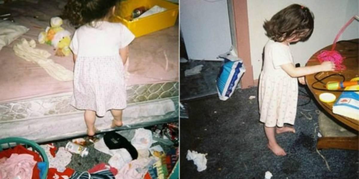 El desgarrador álbum familiar de adolescente que creció con una madre drogadicta