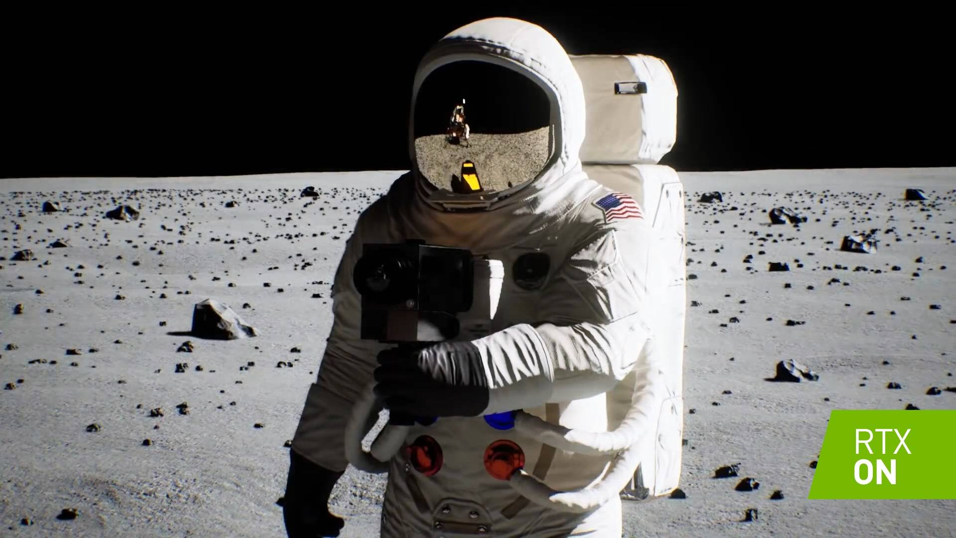 NVIDIA recreó la llegada del hombre a la Luna con tecnología RTX