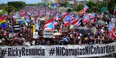 Protesta multitudinaria Puerto Rico