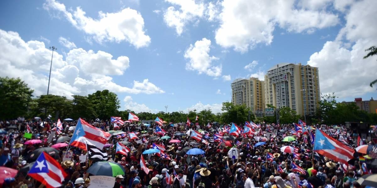 Impresionantes imágenes aéreas de la gran marcha por la renuncia de Ricardo Rosselló