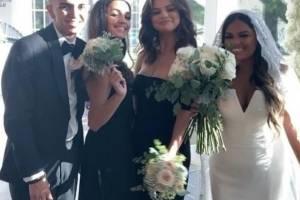 Selena en la boda de su prima