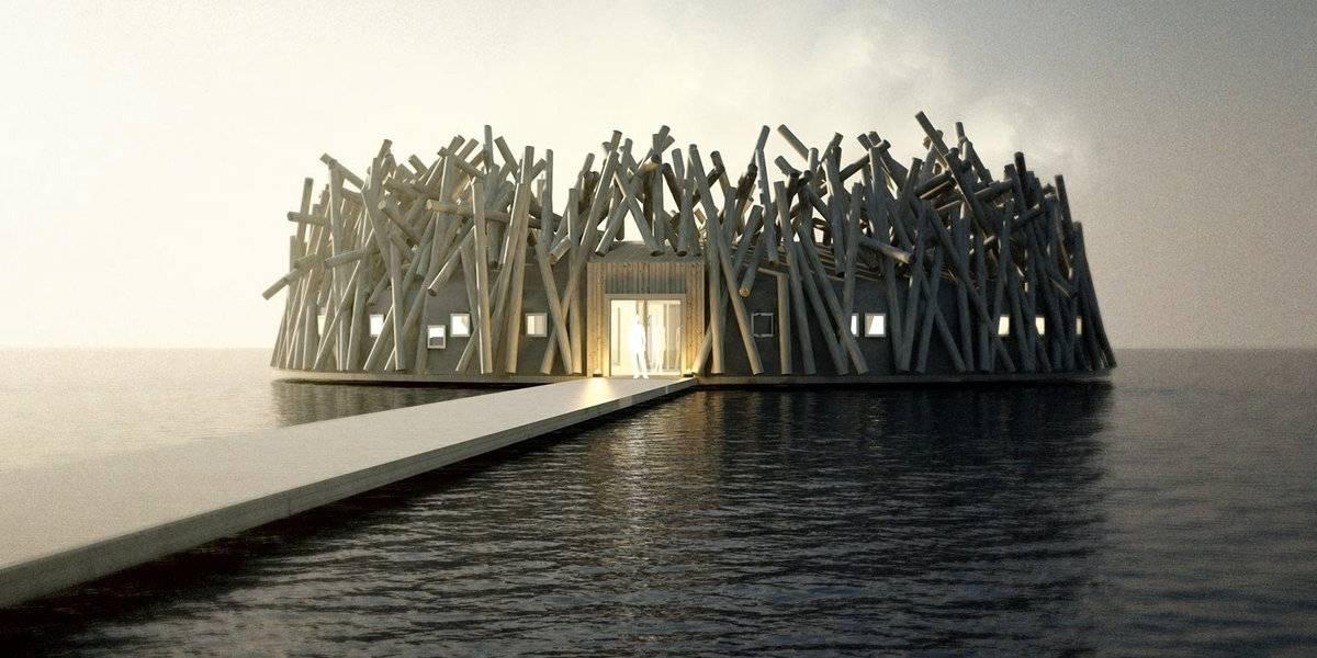 Un hotel flotante abre sus puertas en Suecia y ofrece increíbles vistas de la aurora boreal