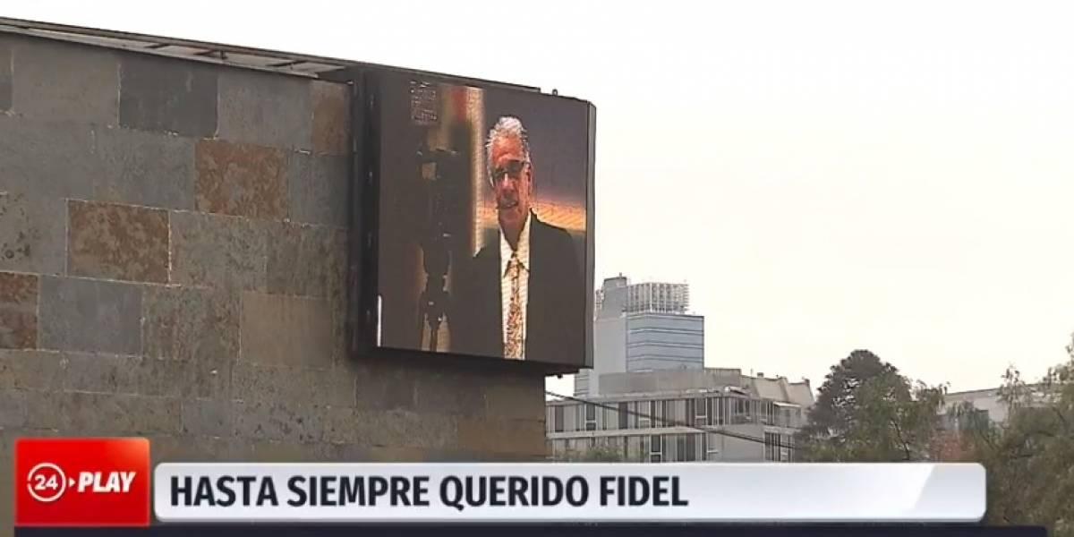 La emotiva despedida de amigos y compañeros a Fidel Oyarzo en el frontis de TVN